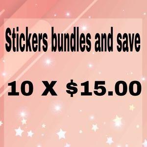 Bundle 10x $15.00 stickers.